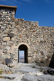 Opened gate in Khor Virap ancient monastery, Armenia, unesco world heritage site Royalty Free Stock Image