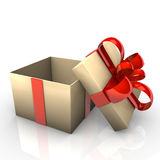 Opened Gift Stock Photo
