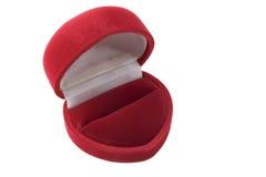 Opened gift box. Opened red  velvet  gift box Royalty Free Stock Photography