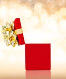 Opened Gift Box Background For Any Occasion With Copy Space Royalty Free Stock Image