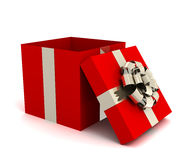 Opened gift box 3d illustration Stock Image
