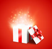 Opened gift box Royalty Free Stock Photography