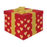 Opened gift box, surprise concept.Gift to the bride and groom for the wedding from guests and loved ones. Boxes  Stock Images