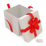 Opened Gift Box  on white background Stock Photo