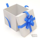 Opened Gift Box  on white background Royalty Free Stock Image