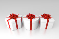 Opened gift boxes Royalty Free Stock Image