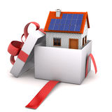 Opened Gift House Royalty Free Stock Images