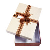Opened gift packing Royalty Free Stock Photography
