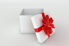 Opened giftbox. 3D rendered illustration of a opened giftbox Royalty Free Stock Photo