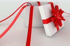 Opened giftbox in 3d Royalty Free Stock Photos
