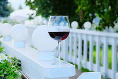 opened glass of red wine Royalty Free Stock Photos