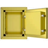Opened gold safe Stock Photos