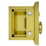 Opened gold safe. Isolated render on a white background Royalty Free Stock Image