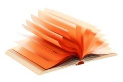 Opened golden book, 3D rendering Stock Photos