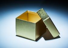 Opened Golden Box Stock Photos