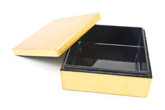Opened golden gift box Royalty Free Stock Images
