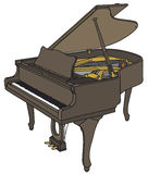 Opened grand piano Stock Image
