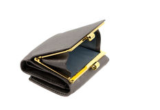 Opened grey wallet Royalty Free Stock Photos