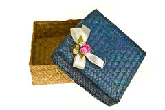 Opened hand made gift box Stock Image