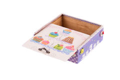 Opened handmade gift box. Stock Photos