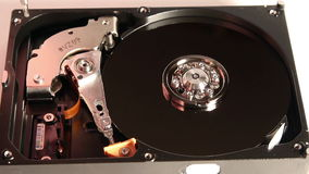 Opened hard disk stock footage