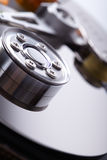 Opened hard disk drive. Closeup Royalty Free Stock Images
