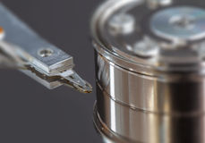 Opened hard disk drive.  Stock Image