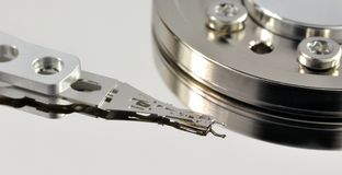 Opened hard disk drive Stock Image