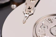 Opened hard disk drive. Close-up macro view Royalty Free Stock Image