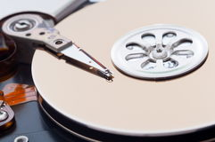 Opened hard disk drive Stock Photo