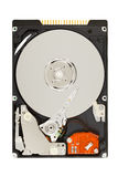 Opened Hard Disk Drive. (HDD) isolated on white background with clipping path Royalty Free Stock Photos