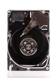 Opened hard disk drive isolated on white. Background Royalty Free Stock Photography