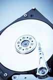 HDD on blue Stock Images