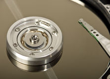 Opened hard drive Stock Image