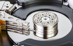 Opened Hard Drive. An opened hard drive close up Stock Photography