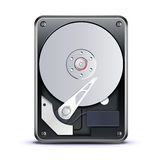 Opened hard drive disk Royalty Free Stock Photography