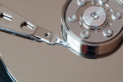 Opened hard drive reading head Stock Images