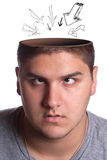 Opened Head Cavity Man