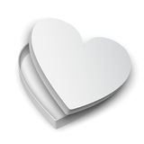 Opened Heart Gift Box Royalty Free Stock Photography