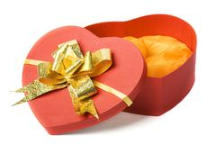 Opened Heart Shape Box Stock Images