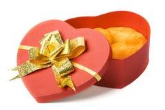 Opened heart shape box Stock Images