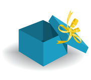 Opened Holiday Gift Box Royalty Free Stock Image