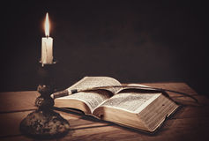 Opened Holy Bible Stock Photography