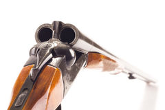 Opened hunting gun Stock Photo