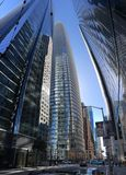 The newly opened, not yet complete, Salesforce Tower, San Francisco, 2. royalty free stock photo