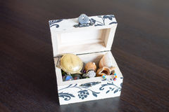 Opened Jewelry box with memories Royalty Free Stock Photography