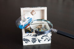 Opened Jewelry box Royalty Free Stock Image