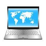 Opened laptop. Stock Images