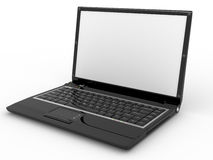 Opened laptop on white isolated background Stock Images