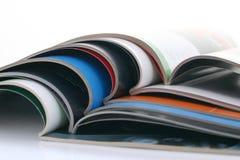 Opened magazines Royalty Free Stock Images